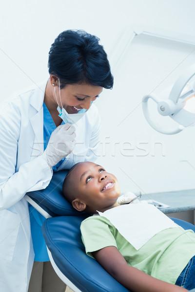 Ritratto sorridere femminile dentista ragazzi Foto d'archivio © wavebreak_media