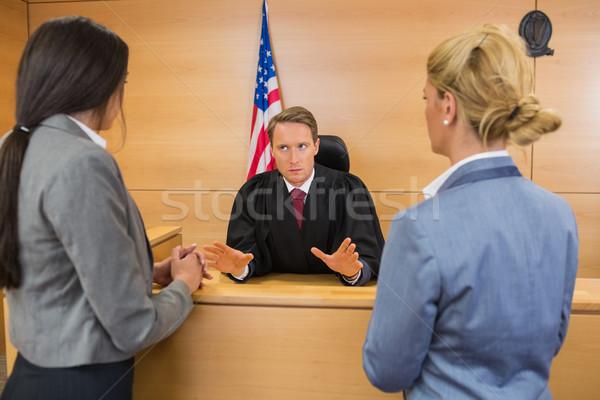 Адвокаты судья суд комнату женщину Сток-фото © wavebreak_media