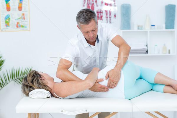 Сток-фото: врач · пациент · назад · медицинской · служба