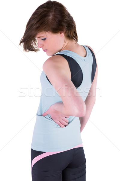 Csinos barna hajú hát sérülés fehér test Stock fotó © wavebreak_media