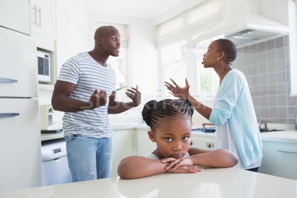 Para argument kuchnia dziecko domu matka Zdjęcia stock © wavebreak_media