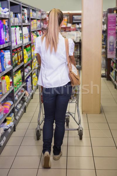 Güzel satın almak ürünleri kadın pazar Stok fotoğraf © wavebreak_media