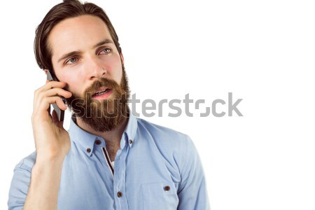 Handsome hipster making a call Stock photo © wavebreak_media