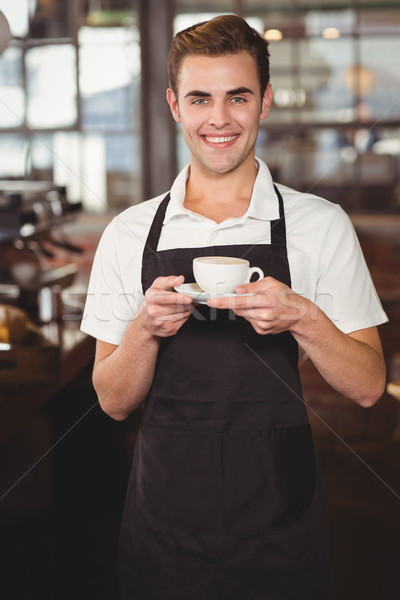 笑みを浮かべて バリスタ カップ コーヒー 肖像 ストックフォト © wavebreak_media