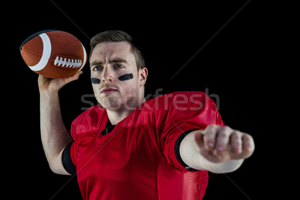 American football player about to throw the ball Stock photo © wavebreak_media