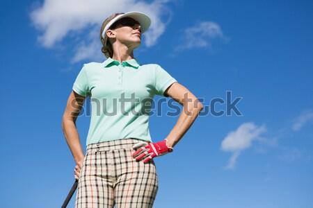 Focused woman playing golf  Stock photo © wavebreak_media
