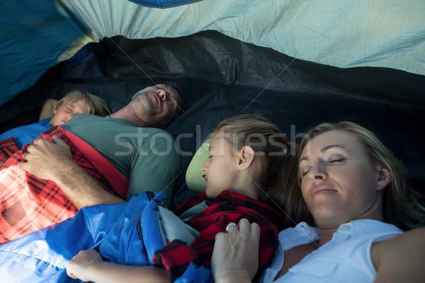 Family sleeping in the tent Stock photo © wavebreak_media