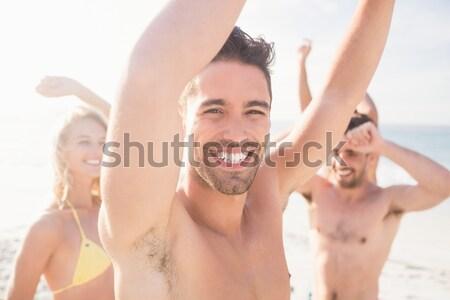 непосредственно портрет мужчины друзей играет Сток-фото © wavebreak_media