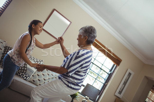 бабушки внучка гостиной домой ребенка Сток-фото © wavebreak_media
