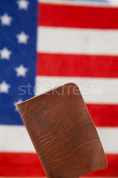 Foto stock: Pasaporte · bandera · de · Estados · Unidos · primer · plano · seguridad · azul · viaje