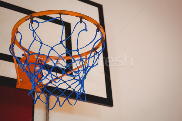Low angle view of blue basket ball hoop Stock photo © wavebreak_media