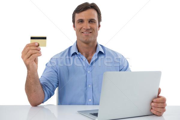мужчины исполнительного дебетовая карточка белый портрет Сток-фото © wavebreak_media