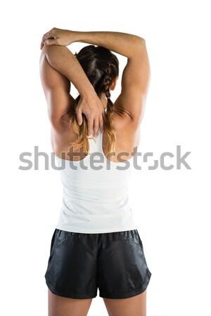 Rückansicht weiblichen Athleten stehen weiß Stock foto © wavebreak_media