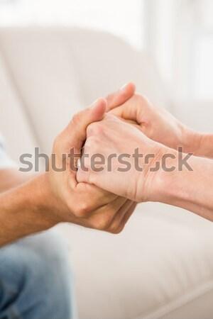 Görmek terapist rahatlatıcı erkek hasta Stok fotoğraf © wavebreak_media