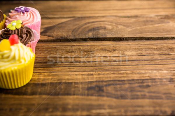 Finom minitorták asztal lövés stúdió krém Stock fotó © wavebreak_media