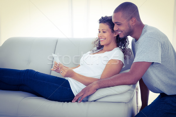 Young couple with sonogram Stock photo © wavebreak_media