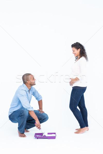 Feliz marido olhando esposa branco homem Foto stock © wavebreak_media