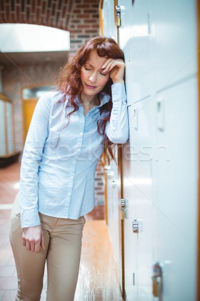 Dojrzały student uczucie korytarzu uczelni Zdjęcia stock © wavebreak_media