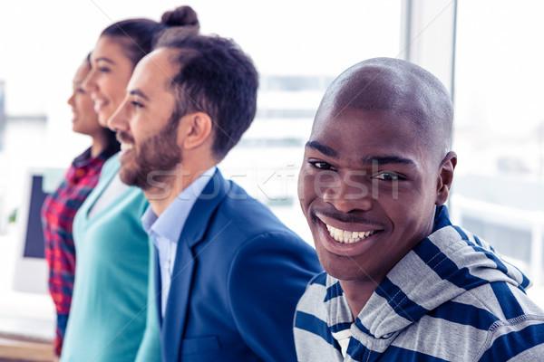 Retrato feliz empresario colegas pie creativa Foto stock © wavebreak_media