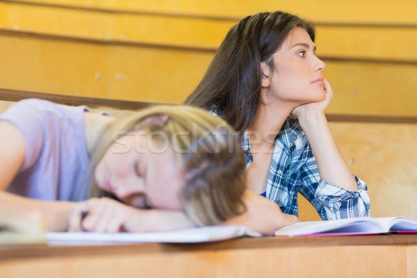 Сток-фото: скучно · студент · прослушивании · одноклассник · спальный · университета