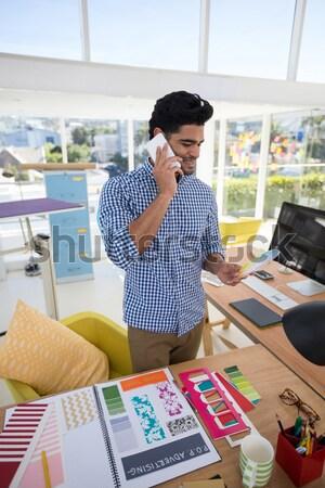 мужчины графических дизайнера рабочих столе служба Сток-фото © wavebreak_media