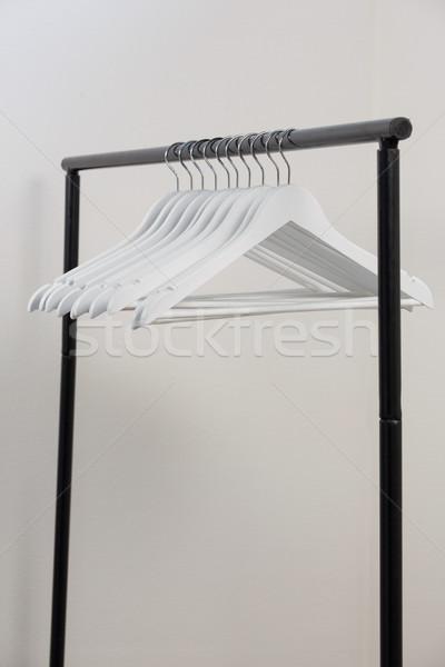 Biały stali wsparcia plastikowe rack Zdjęcia stock © wavebreak_media