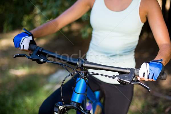 Close up of womans bust on a bike Stock photo © wavebreak_media