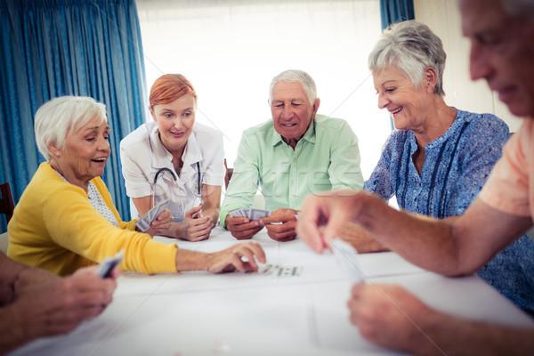 Carte da gioco infermiera casa donna salute Foto d'archivio © wavebreak_media