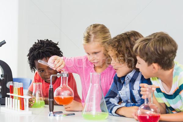 Crianças químico experiência laboratório escolas educação Foto stock © wavebreak_media