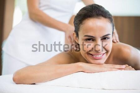 Ritratto donna sorridente indietro massaggio sorridere Foto d'archivio © wavebreak_media
