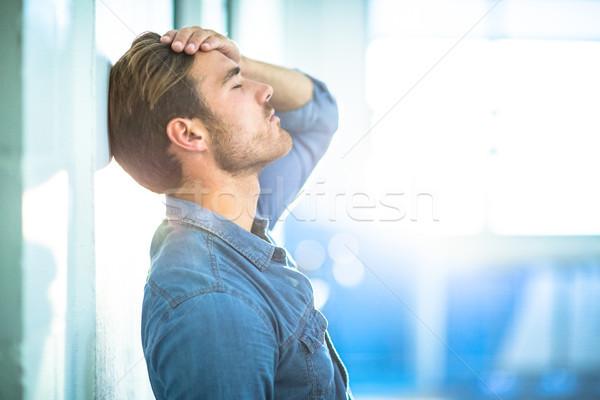 疲れ ビジネスマン 壁 オフィス 男性 ストックフォト © wavebreak_media