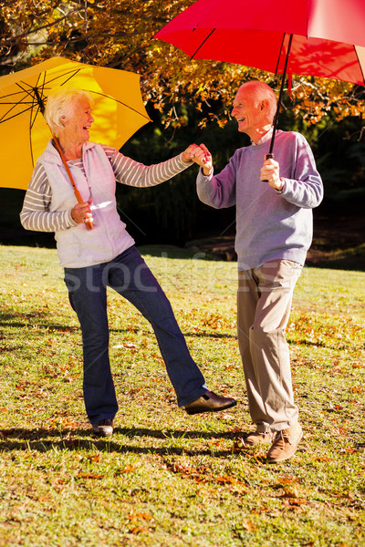 Dansen parasols park boom man Stockfoto © wavebreak_media