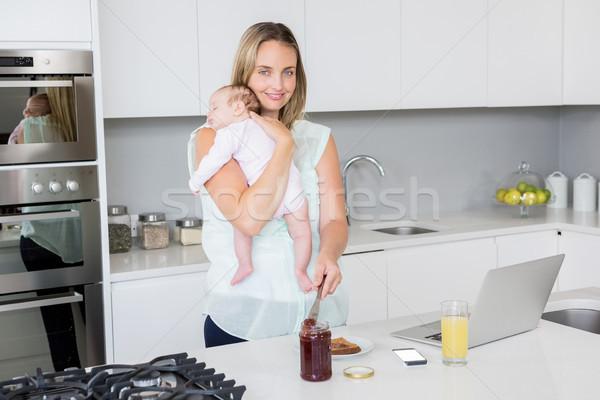 肖像 母親 ジャム パン 赤ちゃん ストックフォト © wavebreak_media