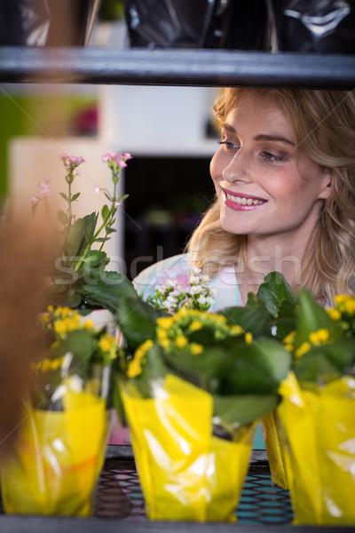 Female florist arranging flower bouquet Stock photo © wavebreak_media