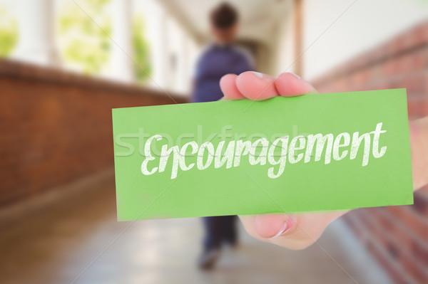 Encorajamento bastante professor ajuda alunos sala de aula Foto stock © wavebreak_media