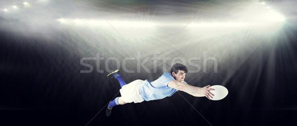 Afbeelding rugby speler man sport Stockfoto © wavebreak_media