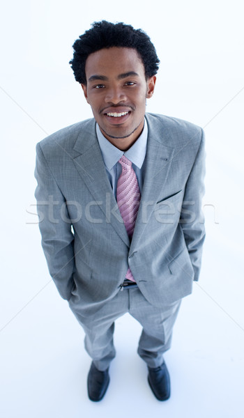 High angle of businessman with hands in his pockets Stock photo © wavebreak_media