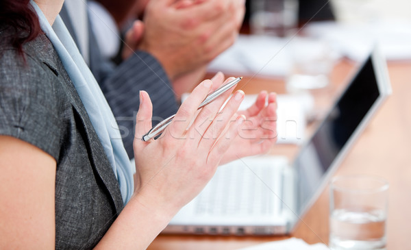 Close-up of business people applauding a good presentation Stock photo © wavebreak_media