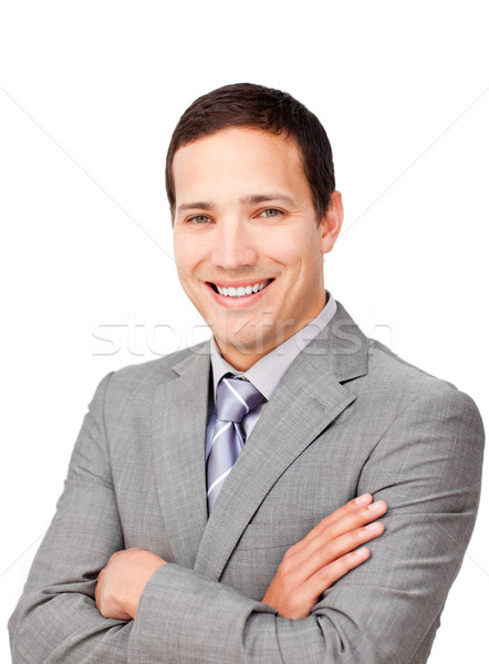 Assertive businessman with folded arms  Stock photo © wavebreak_media