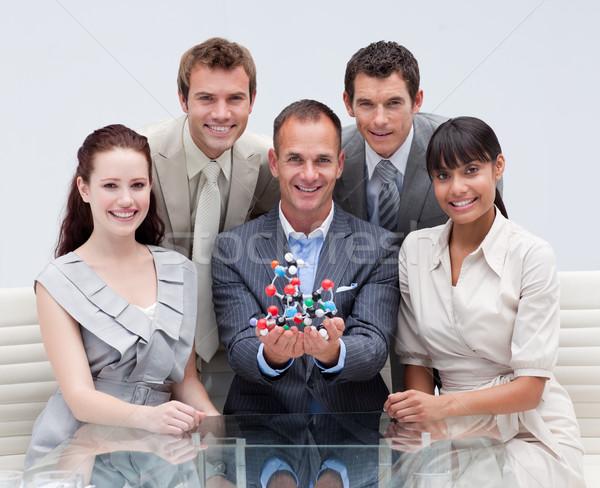 Business-Team halten Moleküle wissenschaftlichen Business Stock foto © wavebreak_media