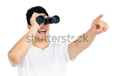 üzletasszony néz látcső fehér iroda lány Stock fotó © wavebreak_media