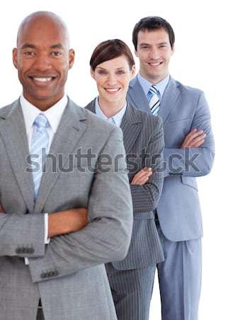 Portrait positif équipe commerciale blanche affaires sourire Photo stock © wavebreak_media