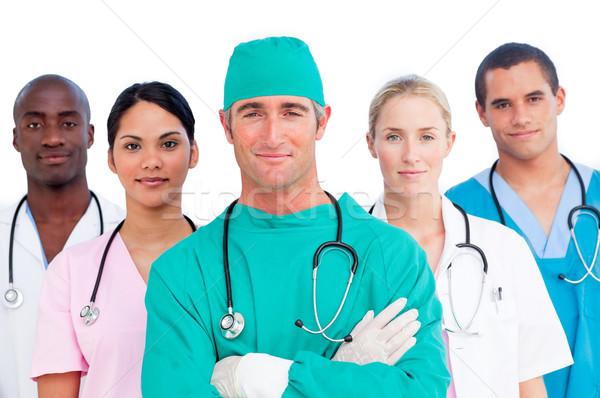 Portré több nemzetiségű orvosi csapat fehér mosoly Stock fotó © wavebreak_media