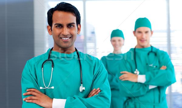 Grupo cirurgiões diversidade sorridente câmera Foto stock © wavebreak_media