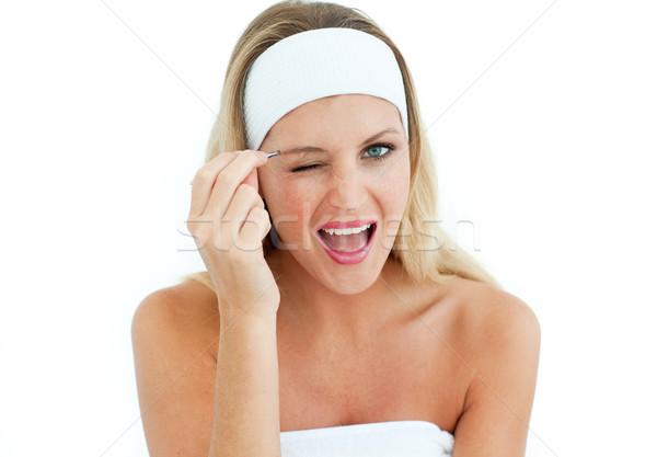 Fiatal nő szem nők bőr fiatal tükör Stock fotó © wavebreak_media