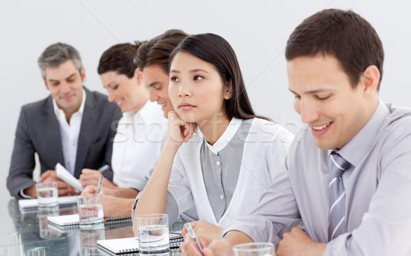 S'ennuie femme d'affaires conférence équipe réunion heureux Photo stock © wavebreak_media
