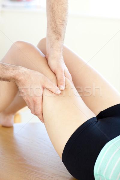 Közelkép kaukázusi nő láb masszázs egészség Stock fotó © wavebreak_media