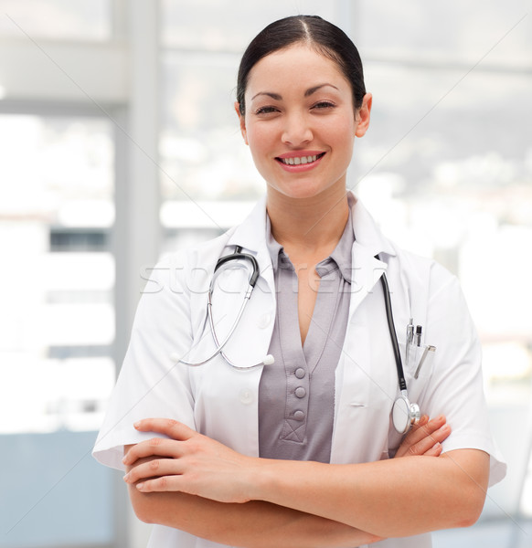 Portret arts stethoscoop glimlachend camera medische Stockfoto © wavebreak_media