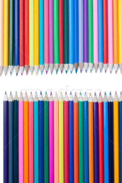 Kolor ołówki konfrontacja biały drewna Zdjęcia stock © wavebreak_media