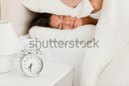 Charmant vrouwelijke omhoog dank wekker vrouw Stockfoto © wavebreak_media
